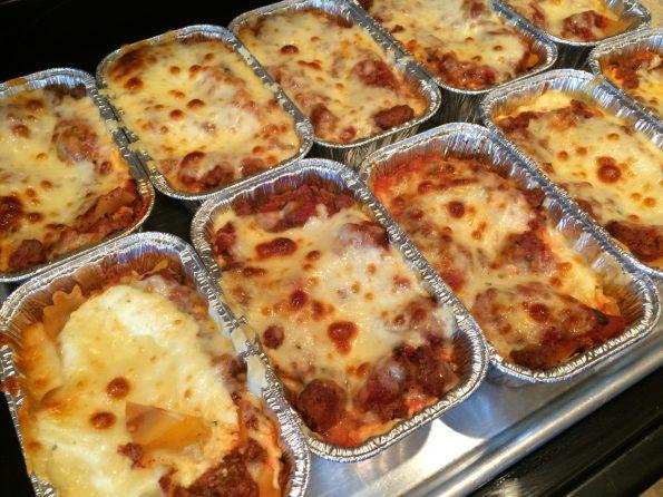 Individually packed lasagna